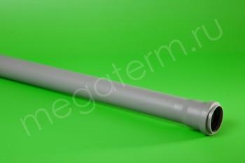 ППКР. Труба канализационная 50/L=1000, серая - Производство и продажа полипропиленовых труб «МегаТерм»