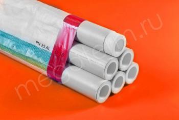 ППРС. Труба. PN25. Al (4м). D 50 х 9,5 наружное армирование - Производство и продажа полипропиленовых труб «МегаТерм»