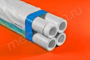 ППРС. Труба. PN25. Al (4м). D 63  наружное армирование - Производство и продажа полипропиленовых труб «МегаТерм»