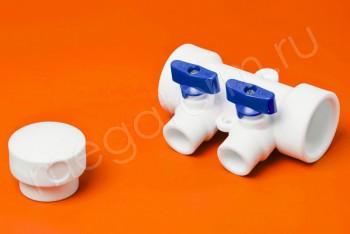 ППРС Коллектор 40-20х2 синий кран - Производство и продажа полипропиленовых труб «МегаТерм»