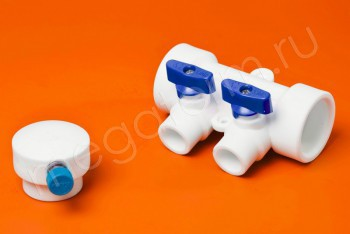 ППРС Коллектор 40-20х2 синий кран с возд - Производство и продажа полипропиленовых труб «МегаТерм»