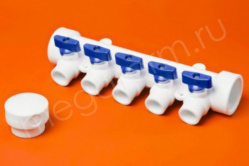 ППРС Коллектор 40-20х5 синий кран - Производство и продажа полипропиленовых труб «МегаТерм»