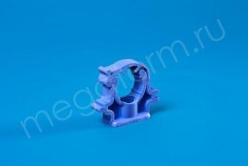 ППРС Опора D 20 (с защелкой) синяя - Производство и продажа полипропиленовых труб «МегаТерм»