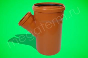 Канализация Тройник 500-110 х 45*, Наружный рыжий - Производство и продажа полипропиленовых труб «МегаТерм»