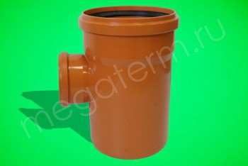 Канализация Тройник 250 -110 х 90*, Наружный рыжий - Производство и продажа полипропиленовых труб «МегаТерм»