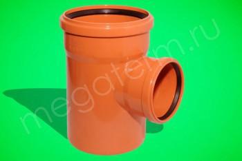 Канализация Тройник 400 -200 х 90*, Наружный рыжий - Производство и продажа полипропиленовых труб «МегаТерм»