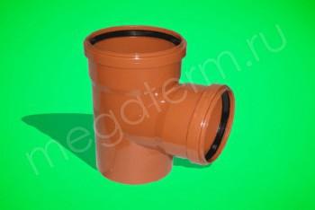 Канализация Тройник 500 -400 х 90*, Наружный рыжий - Производство и продажа полипропиленовых труб «МегаТерм»