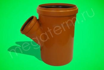 Канализация Тройник 400-200 х 45*, Наружный рыжий - Производство и продажа полипропиленовых труб «МегаТерм»