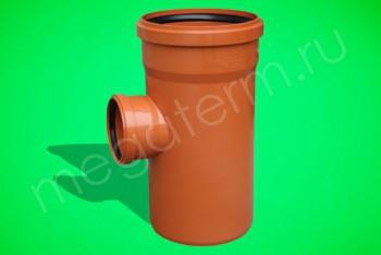 Канализация Тройник 315 -110 х 90*, Наружный рыжий - Производство и продажа полипропиленовых труб «МегаТерм»
