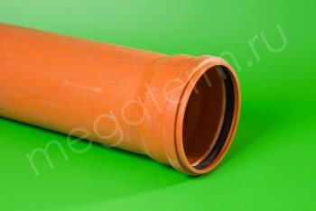 Труба канализационная 200 х4,9/L=4000, Наружная, рыжая - Производство и продажа полипропиленовых труб «МегаТерм»
