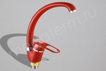 P5925-5 Смеситель Кухни 40 мм Боковой.Гайка Красный (Potato) - Производство и продажа полипропиленовых труб «МегаТерм»