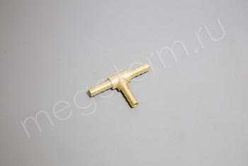 Соединитель шланга Т-образный латунь 06мм - Производство и продажа полипропиленовых труб «МегаТерм»
