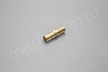 Соединитель Шланга 15 мм Прямой. Латунь - Производство и продажа полипропиленовых труб «МегаТерм»