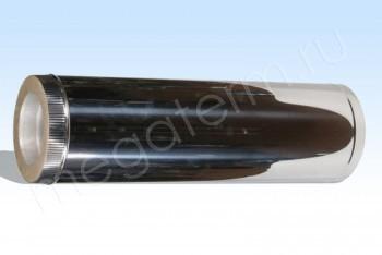 Труба Термо d140/D250 Нерж.Ст.0,8 / Нерж.Ст.0,5 L=1000 (Огнерус) - Производство и продажа полипропиленовых труб «МегаТерм»