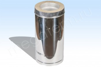 Труба Термо d150/D200 Нерж.Ст.0,8 / Нерж.Ст.0,5 L= 500 (Огнерус) - Производство и продажа полипропиленовых труб «МегаТерм»
