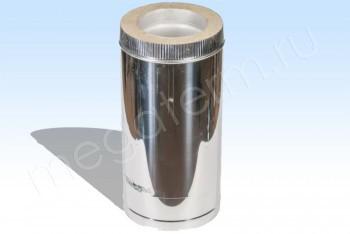 Труба Термо d160/D250 Нерж.Ст.0,8 / Нерж.Ст.0,5 L= 500 (Огнерус) - Производство и продажа полипропиленовых труб «МегаТерм»