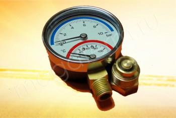 """Термоманометр  Радиальный 1/2"""", 10 бар, 120*С - Производство и продажа полипропиленовых труб «МегаТерм»"""