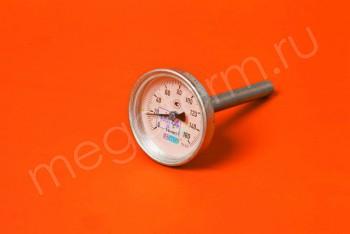 Термометр Биметалл  63мм, 150 *С, L=100мм Осевой с Гильзой - Производство и продажа полипропиленовых труб «МегаТерм»
