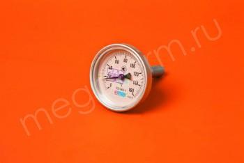 Термометр Биметалл  63мм, 150 *С, L= 60мм Осевой с Гильзой - Производство и продажа полипропиленовых труб «МегаТерм»