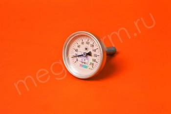 Термометр Биметалл  63мм, 200 *С, L= 60мм Осевой с Гильзой - Производство и продажа полипропиленовых труб «МегаТерм»