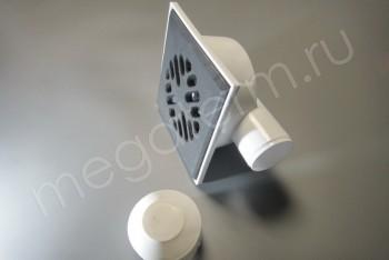 Трап Горизонтал. D 50 Чугунная Решетка 150 х150 Гидрозатвор - Производство и продажа полипропиленовых труб «МегаТерм»