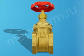 """Латунь.Задвижка Клиновая Ду 32 Муфтовая (G1.1/4"""") PN10 (Itap) - Производство и продажа полипропиленовых труб «МегаТерм»"""