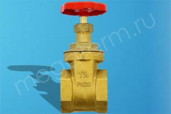 """Латунь.Задвижка Клиновая Ду 32 Муфтовая (G1.1/4"""") PN20 (Itap) - Производство и продажа полипропиленовых труб «МегаТерм»"""