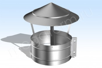 Зонт-Хомут Моно (К-к 350) d 200 L=250 Нж.Ст. (t=0,5) (Огнерус) - Производство и продажа полипропиленовых труб «МегаТерм»