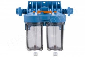"""Корпус Картриджного Фильтра 1 МС 10"""" Т2, Два Корпуса 10BB (Джилекс) - Производство и продажа полипропиленовых труб «МегаТерм»"""