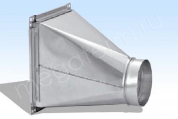 Переход 700х400/ D630,  300 мм, ст 0,7 - Производство и продажа полипропиленовых труб «МегаТерм»